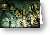 Paris Greeting Cards - Reinvented History Greeting Card by Andrew Paranavitana