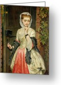 Pensive Greeting Cards - Rejected Addresses Greeting Card by Charles Sillem Lidderdale