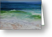 Waves Pastels Greeting Cards - Relax Greeting Card by Jeanne Rosier Smith
