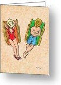 Island Artist Pastels Greeting Cards - Relax Greeting Card by William Depaula