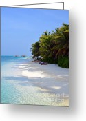 Beach Pictures Greeting Cards - Relaxation Greeting Card by Corinne Rhode