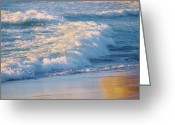 Surf Silhouette Greeting Cards - Relaxation  Greeting Card by E Luiza Picciano