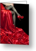Red Shoes Greeting Cards - Relaxed Greeting Card by Svetlana Sewell