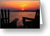 Bonnes Eyes Fine Art Photography Greeting Cards - Relaxing Sunset Greeting Card by Bonnes Eyes Fine Art Photography