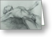 Figure Greeting Cards - Release Greeting Card by Cynthia Harvey