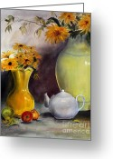 Floral Greeting Cards - Reliable Loyalty Greeting Card by Jane Autry