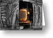 Barn Art Digital Art Greeting Cards - Relic From Past Times Greeting Card by Heiko Koehrer-Wagner