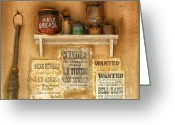 Old Relics Greeting Cards - Relics of the Old West Greeting Card by Sandra Bronstein