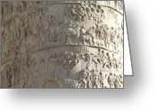 Relief Work Photo Greeting Cards - Relief. detail view of the Trajan Column. Rome Greeting Card by Bernard Jaubert