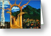 Gregory Allen Page Greeting Cards - Religion and Nature Greeting Card by Gregory Allen Page