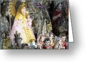 Merchandise Photo Greeting Cards - Religious Statuettes For Sale Greeting Card by Skip Nall