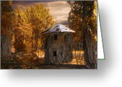 Shed Greeting Cards - Remains Greeting Card by Jack Zulli