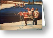 Minor Hockey Greeting Cards - Rematch 2010 - The Bullies are Back Greeting Card by Ron  Genest