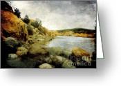 Watson Lake Greeting Cards - Rembrandt Colors Greeting Card by Arne Hansen