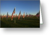 Flags Greeting Cards - Remember 911 Greeting Card by Mike  Dawson