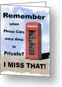 Phone Booth Greeting Cards - Remember When . . . Greeting Card by Mike McGlothlen