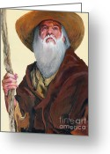 Wise Man Greeting Cards - Remembering When Greeting Card by J W Baker