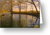 National Mixed Media Greeting Cards - Reminder of a Beautiful Day at the Lake - Scenic Landscapes Photography Greeting Card by Photography Moments - Sandi
