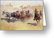 Remington Greeting Cards - Remington: Attack Greeting Card by Granger