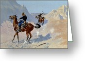 Remington Greeting Cards - Remington: Guard, 1890 Greeting Card by Granger
