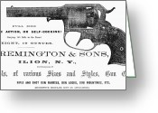 Remington Greeting Cards - Remington Revolver Greeting Card by Granger