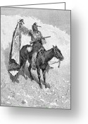 Remington Greeting Cards - Remington: Scout, 1891 Greeting Card by Granger