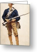 Remington Greeting Cards - Remington: Soldier, 1901 Greeting Card by Granger