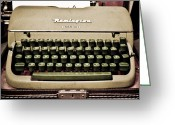 Remington Greeting Cards - Remington Typewriter Greeting Card by Marilyn Hunt