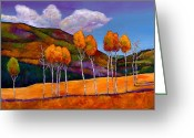 Aspen Trees Greeting Cards - Reminiscing Greeting Card by Johnathan Harris