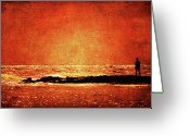 Melbourne Beach Greeting Cards - Renaissance Greeting Card by Andrew Paranavitana