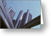 Renaissance Center Greeting Cards - Renaissance Center in Detroit Greeting Card by Will & Deni McIntyre