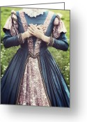 Renaissance Greeting Cards - Renaissance Princess Greeting Card by Joana Kruse