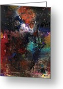 Abstract Prints Greeting Cards - Render Me Lonely When Your Not Around Greeting Card by Michel  Keck