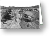 Central Drawings Greeting Cards - Reno 1884 Greeting Card by Bruce Kay