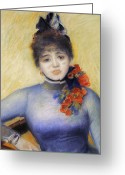 Corsage Greeting Cards - Renoir: Caroline Remy, 1885 Greeting Card by Granger