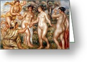 Trojan Greeting Cards - Renoir: Judgment Of Paris Greeting Card by Granger