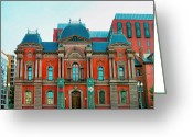 Cities Greeting Cards - Renwick Gallery I Greeting Card by Steven Ainsworth