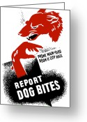 Second Greeting Cards - Report Dog Bites Greeting Card by War Is Hell Store
