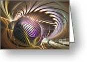 Computerart Greeting Cards - Requiem - Fractal art Greeting Card by Sipo Liimatainen