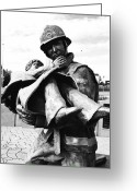 Fireman Boots Greeting Cards - Rescue Greeting Card by Kevin Gilchrist