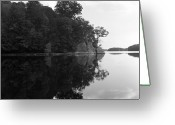 Connecticut Greeting Cards - Reservoir Reflection Greeting Card by Adam Garelick