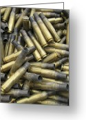 Unused Greeting Cards - Residual Ammunition Casing Materials Greeting Card by Stocktrek Images