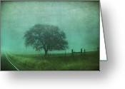 Fence Digital Art Greeting Cards - Resolution Greeting Card by Laurie Search