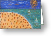 Sports Art Painting Greeting Cards - Resort Greeting Card by Patrick J Murphy