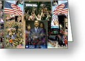 Michelle-obama Greeting Cards - Respectfully Yours..... Mr. President Greeting Card by Terry Wallace