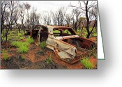Chev Pickup Greeting Cards - Rest Place Greeting Card by James Mcinnes