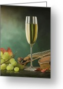 Food And Beverage Art Greeting Cards - Restaurant menu paintings Greeting Card by Michael Greenaway