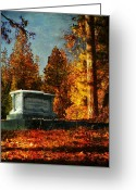 Cemetery Greeting Cards - Resting Place Greeting Card by Leah Moore