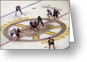 Hockey Greeting Cards - Resume Game Greeting Card by Juergen Roth