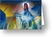 Resurrected Greeting Cards - Resurrection of Christ 1990 Greeting Card by Glenn Bautista